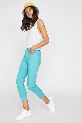 Koton Kadın Yeşil Cep Detayli Pantolon 9YAL41331MW 0