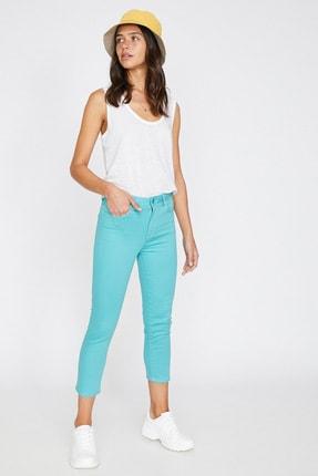 Koton Kadın Yeşil Cep Detayli Pantolon 9YAL41331MW 1
