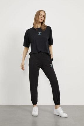 Arma Life Kadın Gri Göz Nakışlı T-shirt Pantolon Takım 2