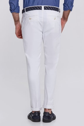 Hemington Erkek Kanvas Beyaz Chino Pantolon 2
