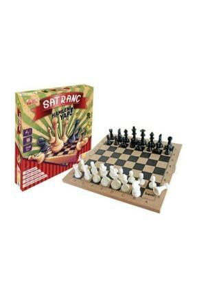 BEMİ Ahşap Tablalı Eğitici Satranç Takımı 0