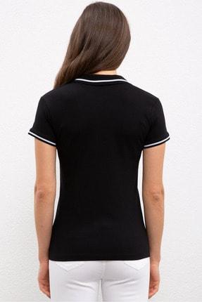 US Polo Assn Sıyah Kadın T-Shirt 2