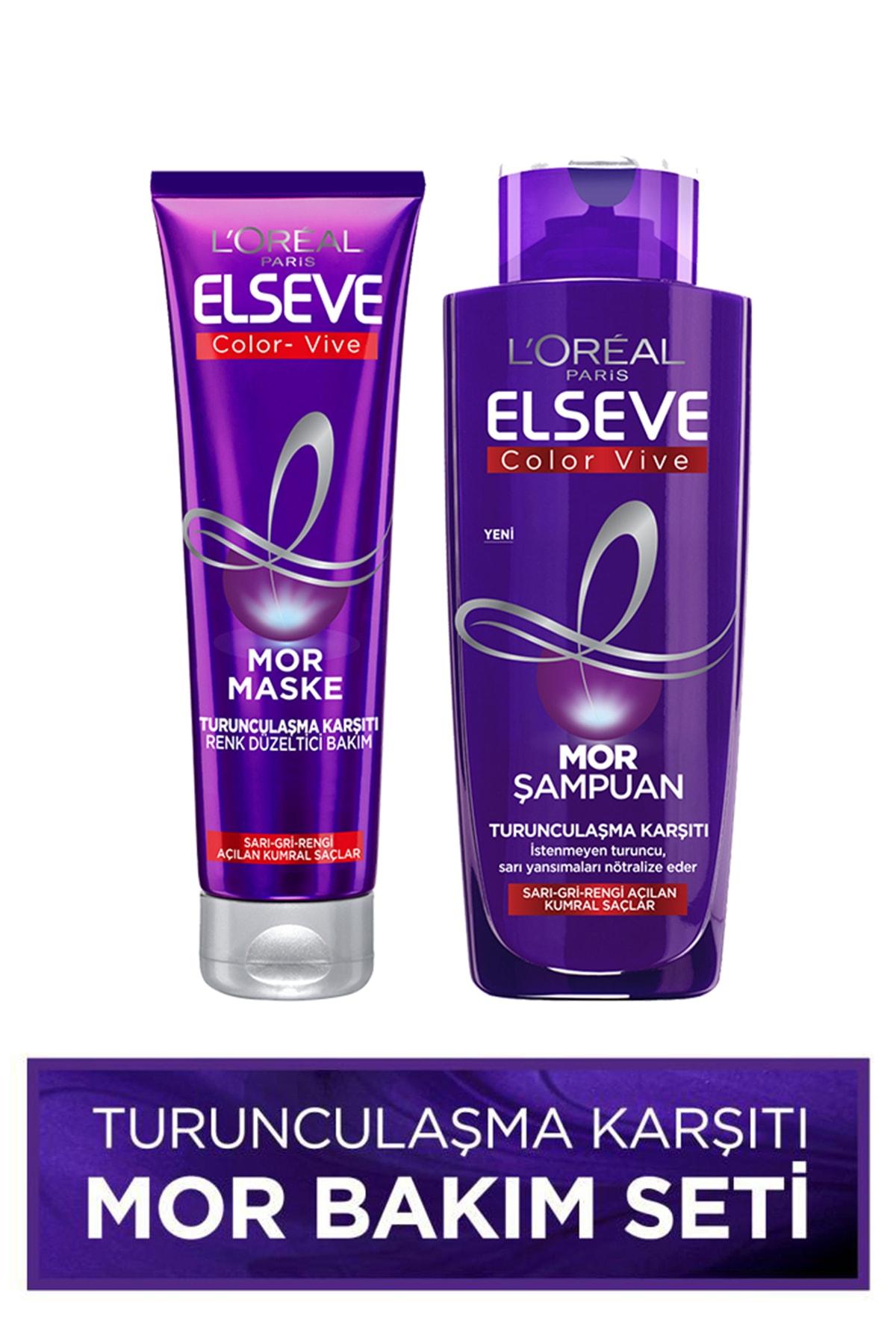 Turunculaşma Karşıtı Mor Saç Bakım Seti -Mor Şampuan 200ml + Renk Düzeltici Saç Maskesi 150ml