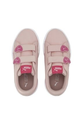 Puma SMASH V2 CNDY V PS Pembe Kız Çocuk Sneaker Ayakkabı 101119308 4