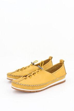 Deripabuc Hakiki Deri Sarı Kadın Deri Babet Dp16-0051 3