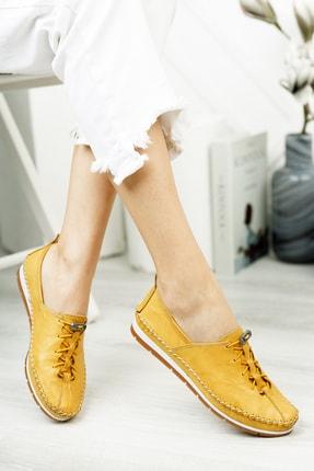 Deripabuc Hakiki Deri Sarı Kadın Deri Babet Dp16-0051 4