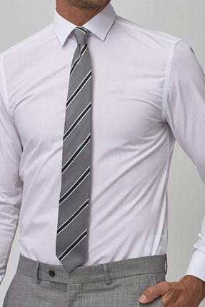bombe Erkek Beyaz Slim Fit Klasik Gömlek 0