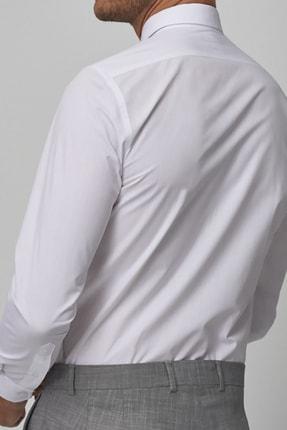 bombe Erkek Beyaz Slim Fit Klasik Gömlek 3