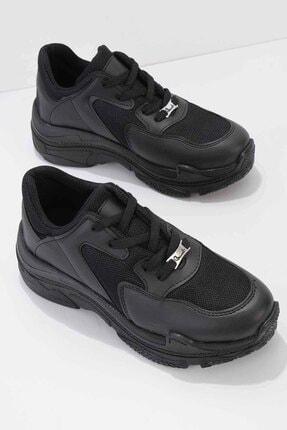 Bambi Siyah Kadın Sneaker K01836001009 0