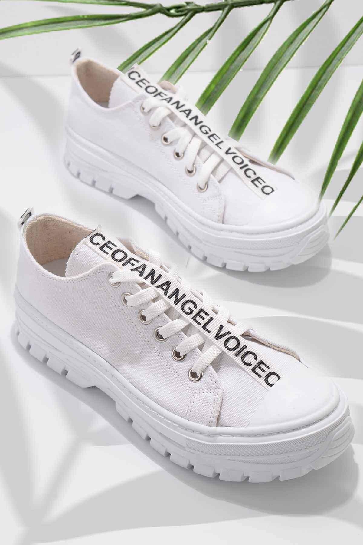 Beyaz Kadın Sneaker K01530110618