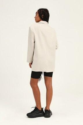 Quzu Kadın Taş Kruvaze Yaka Blazer Ceket 4
