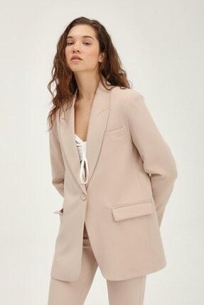 Quzu Kadın Bej Blazer Ceket 1