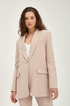 Quzu Kadın Bej Blazer Ceket 3