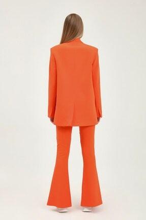 Quzu Kadın Turuncu  Blazer Ceket 4