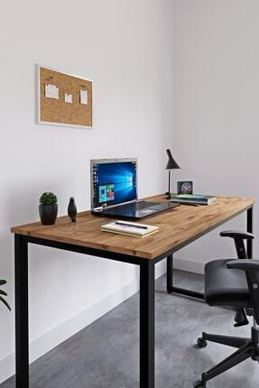 Ceramical Çalışma Masası Bilgisayar Masası Ofis Masası - Atlantik Çam 60 X 140 Cm 2