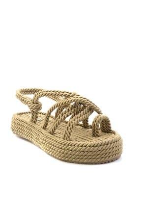 Bambi Altın Kadın Sandalet K05823011176 2