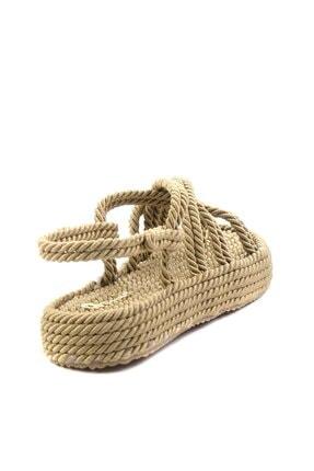 Bambi Altın Kadın Sandalet K05823011176 3