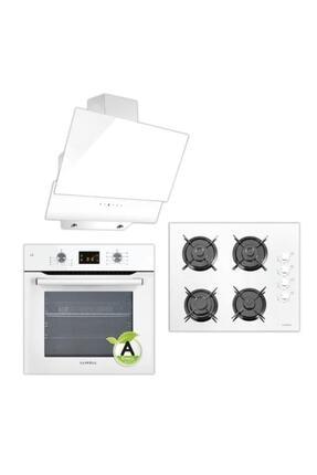 Luxell Beyaz Dokunmatik Dijital Ankastre Set 0