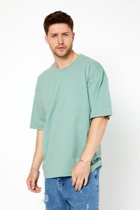 Tarz Cool Erkek Yeşil Basic Kısa Kollu Oversize T-shirt-dzovrszetr07s 1