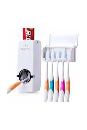 Zzn Otomatik Macun Sıkacağı Diş Fırçalık Tutucu Askı Diş Macunluk Set 4