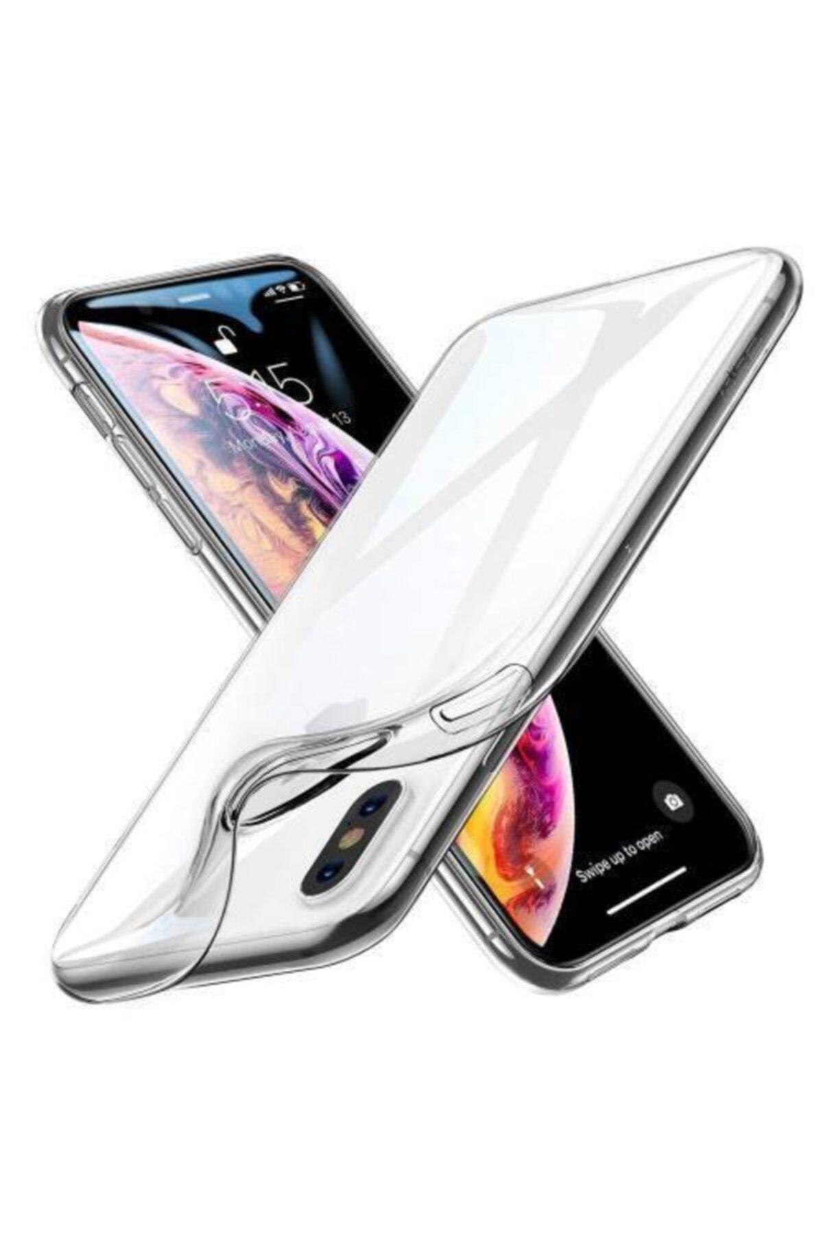Apple Iphone X/xs Lüx Şeffaf Silikon Kılıf + Ekran Koruyucu Kırılmaz Cam