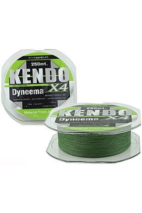 Kendo X4 Dyneema 250m Ip Misina Green 4 Örgü Yeşil 0