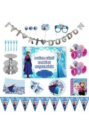 Frozen Karlar Ülkesi Elsa Lüks Doğum Günü Parti Malzemeleri Seti 16 Kişilik PartiSeza-02011