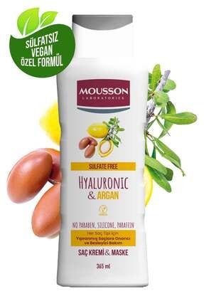 Mousson Hyaluronik Asit & Argan Içeren Onarıcı Ve Besleyici Saç Bakım Krem Ve Maskesi 365 ml 0
