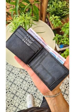 VİSSO 273 Hakiki Deri Bozuk Para Cepli Cüzdan Erkek Kadın Cüzdan Çanta 1