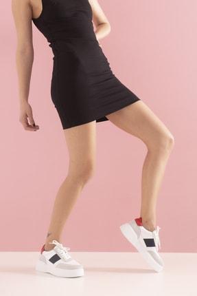 GRADA Kadın Beyaz Hakiki Deri Tommy Bağcıklı Sneaker Ayakkabı 0
