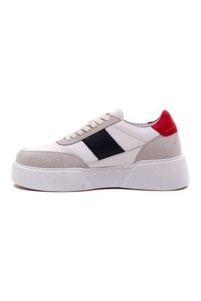 GRADA Kadın Beyaz Hakiki Deri Tommy Bağcıklı Sneaker Ayakkabı 2