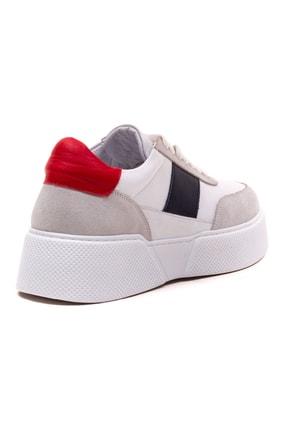 GRADA Kadın Beyaz Hakiki Deri Tommy Bağcıklı Sneaker Ayakkabı 4