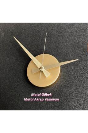 Otantik (KULLANILMIYOR) Metal Göbek Duvar Saati Büyük 3d Romen Rakamlı Strrg1001 2