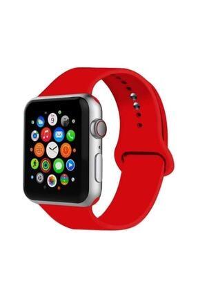KVK PRİVACY Apple Watch 2 3 4 5 6 Se Seri Uyumlu 42 Mm Ve 44 Mm Silikon Kordon Kayış Kırmızı 0