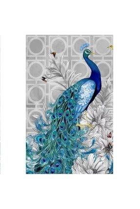 HONDEP 5d Sayılarla Elmas Boyama Tavus Kuşu-2 Diamond Painting Kit 30x40cm Dıy Mozaik Tuval Hobi Seti 0