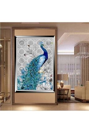 HONDEP 5d Sayılarla Elmas Boyama Tavus Kuşu-2 Diamond Painting Kit 30x40cm Dıy Mozaik Tuval Hobi Seti 1