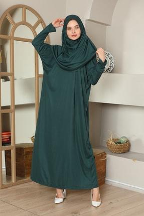 medipek Kolay Giyilebilen Tek Parça Namaz Elbisesi Zümrüt Yeşili 1