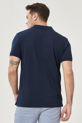 Altınyıldız Classics Erkek LACI-LACI Düğmeli Polo Yaka Cepsiz Slim Fit Dar Kesim Düz Tişört 3