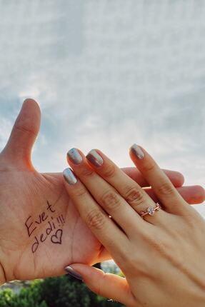 MELODİ GÜMÜŞ 14k Rose Gold Izlanda Evlilik Yüzüğü Ayarlanabilir Ölçü 2