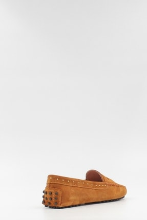West To West Kadın Taba Süet Loafer Ayakkabı 3