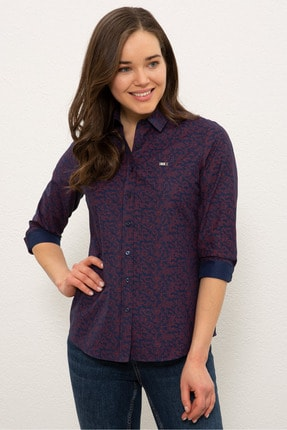 US Polo Assn Lacıvert Kadın Gömlek G082SZ004.000.1269063 0
