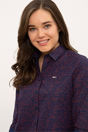 US Polo Assn Lacıvert Kadın Gömlek G082SZ004.000.1269063 1