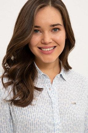 US Polo Assn Mavı Kadın Gömlek G082SZ004.000.1268266 1