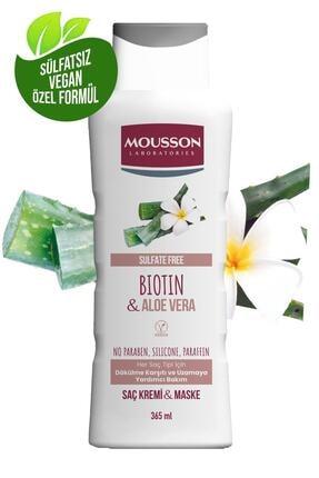 Mousson Biotin ve Aloe Vera İçeren Dökülme Karşıtı ve Uzamaya Yardımcı Saç Bakım Krem ve Maskesi 365 ml 0