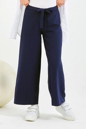 Gentekstil Kadın Lacivert  GenPlus Bel Lastikli Rahat Kesim Pantolon 3
