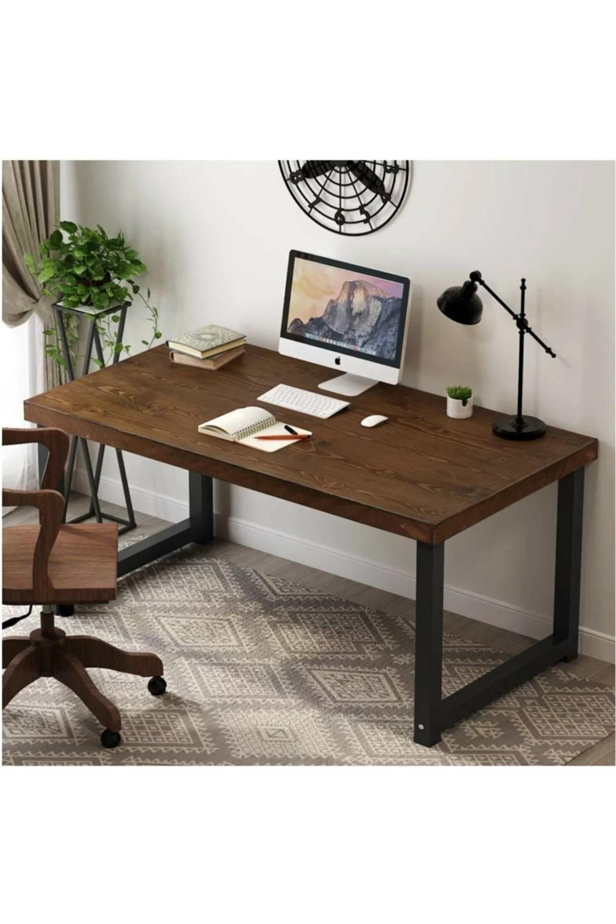 Ahşap Masif Dekoratif Tasarım Çalışma Masası Ahşap Ofis Masası