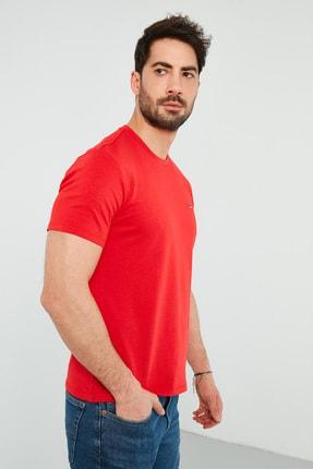 Levi's Erkek Kırmızı Regular Fit Bisiklet Yaka T-Shirt 2
