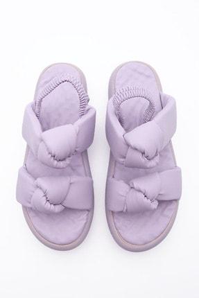 Marjin Kadın Lila Horev Dolgu Topuk Sandalet 4
