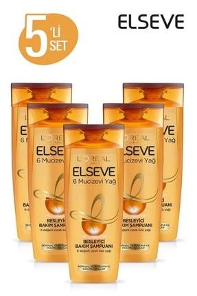 Elseve 5'li 6 Mucizevi Yağ Bakım Şampuanı 360 ml Seti  36005231657975 0