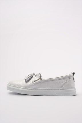 Elle Hakiki Deri Thayne Beyaz Kadın  Sneaker 20YEYB-24 1